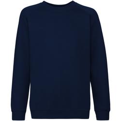 textil Barn Sweatshirts Fruit Of The Loom 62033 Djupt marinblått