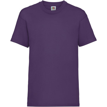 textil Barn T-shirts Fruit Of The Loom 61033 Lila
