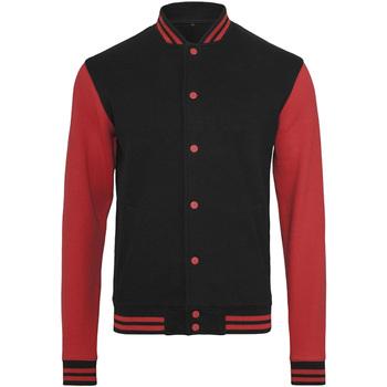 textil Herr Vindjackor Build Your Brand BY015 Svart/röd