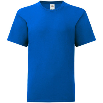 textil Barn T-shirts Fruit Of The Loom 61023 Kunglig blå