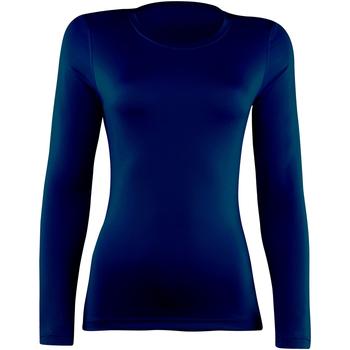 textil Dam Långärmade T-shirts Rhino  Marinblått