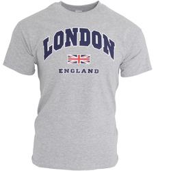 textil Herr T-shirts England  Sport Grå
