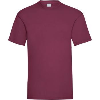 textil Herr T-shirts Universal Textiles 61036 Oxblod
