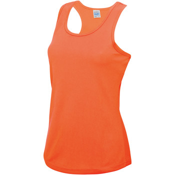 textil Dam Linnen / Ärmlösa T-shirts Awdis JC015 Elektrisk Orange