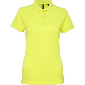 textil Dam Kortärmade pikétröjor Asquith & Fox AQ025 Neon gul