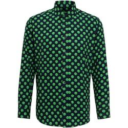 textil Herr Långärmade skjortor Christmas Shop Claus/Sprout Sprout/ Marinblått