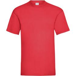 textil Herr T-shirts Universal Textiles 61036 Ljusröd