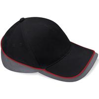 Accessoarer Keps Beechfield B171 Svart/Grafitgrått/Grisgrått/Klassiskt rött