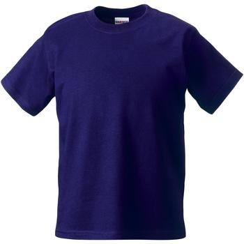 textil Barn T-shirts Jerzees Schoolgear ZT180B Lila
