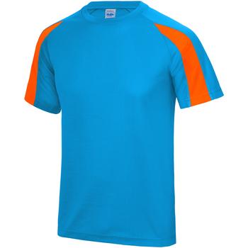 textil Herr T-shirts Just Cool JC003 Safirblå/ Electric Orange