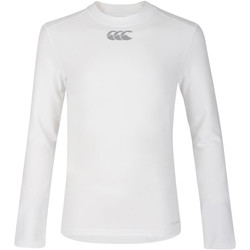 textil Barn Långärmade T-shirts Canterbury CN360B Vit