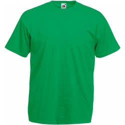 textil Herr T-shirts Fruit Of The Loom 61036 Kelly Green