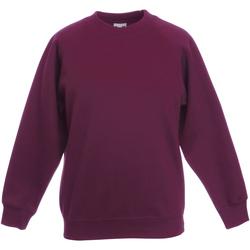 textil Barn Sweatshirts Fruit Of The Loom 62039 Bourgogne