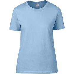 textil Dam T-shirts Gildan 4100L Ljusblå