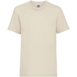 textil Barn T-shirts Fruit Of The Loom 61033 Naturligt