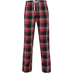 textil Herr Pyjamas/nattlinne Skinni Fit SFM83 Röd/marinefärgad ruta