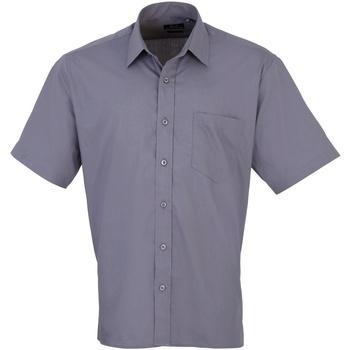 textil Herr Kortärmade skjortor Premier PR202 Stål