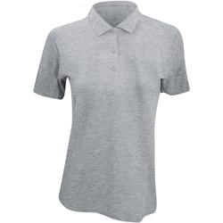textil Dam Kortärmade pikétröjor Anvil 6280L Grått