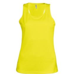 textil Dam Linnen / Ärmlösa T-shirts Kariban Proact Proact Fluorescerande gult