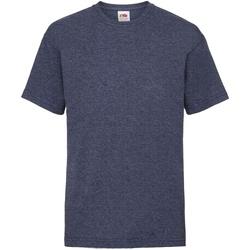 textil Barn T-shirts Fruit Of The Loom 61033 Vintage Heather Navy