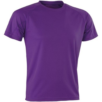 textil T-shirts Spiro Aircool Lila