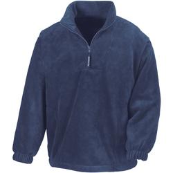 textil Herr Fleecetröja Result R33X Marinblått