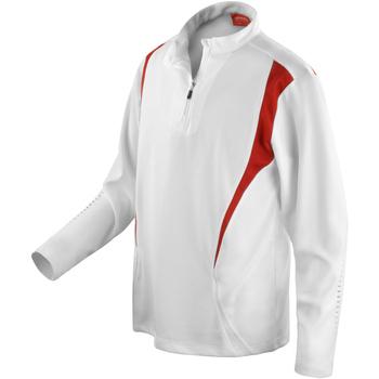 textil Dam Sweatjackets Spiro S178X Vitt/rött/vit