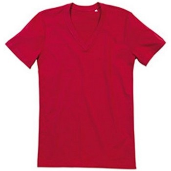 textil Herr T-shirts Stedman Stars  Peppar röd