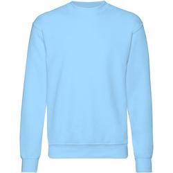 textil Herr Sweatshirts Fruit Of The Loom 62202 Himmelblått