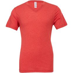 textil Herr T-shirts Bella + Canvas CA3415 Ljusröd triblend