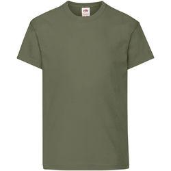 textil Barn T-shirts Fruit Of The Loom 61019 Klassisk olivolja