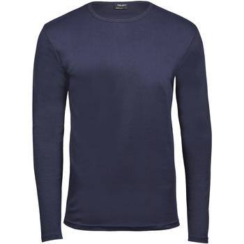 textil Herr Långärmade T-shirts Tee Jays TJ530 Marinblått