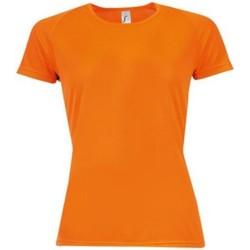 textil Dam T-shirts Sols 01159 Neonorange