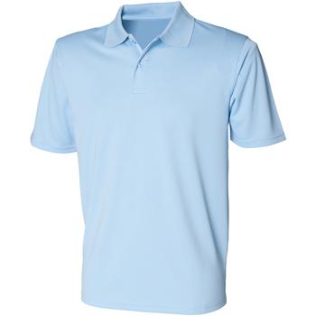 textil Herr Kortärmade pikétröjor Henbury HB475 Ljusblå