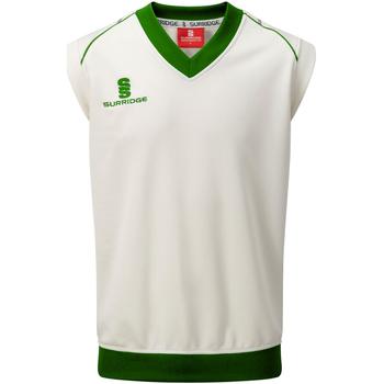 textil Herr Linnen / Ärmlösa T-shirts Surridge SU012 Vit/grön trim