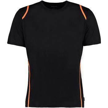 textil Herr T-shirts Gamegear Cooltex Svart/Fluorescerande orange