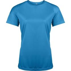 textil Dam T-shirts Kariban Proact PA439 Aqua Blue