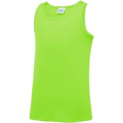 textil Barn Linnen / Ärmlösa T-shirts Awdis JC07J Elektrisk grönt