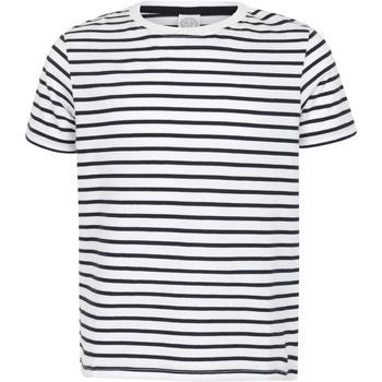 textil Barn T-shirts Skinni Fit SM202 Vit/Oxford Navy