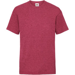 textil Barn T-shirts Fruit Of The Loom 61033 Vintage Heather röd