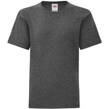 textil Pojkar T-shirts Fruit Of The Loom 61023 Mörk ljung