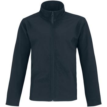 textil Herr Skinnjackor & Jackor i fuskläder B And C Two Layer Marinblått/ neongrönt
