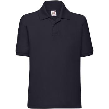 textil Pojkar Kortärmade pikétröjor Fruit Of The Loom 63417 Djupt marinblått