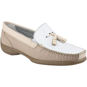 Skor Dam Loafers Cotswold BIDDLESTONE Vit/Beige/Tan