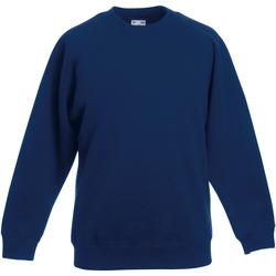 textil Barn Sweatshirts Fruit Of The Loom 62039 Marinblått