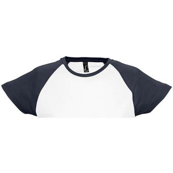 textil Dam T-shirts Sols Milky Vit/marinefärgad