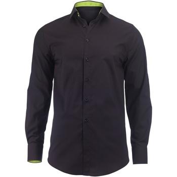textil Herr Långärmade skjortor Alexandra Hospitality Svart/ Lime