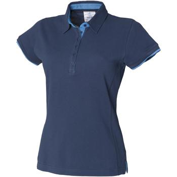 textil Dam Kortärmade pikétröjor Front Row FR201 Flottan/marinen