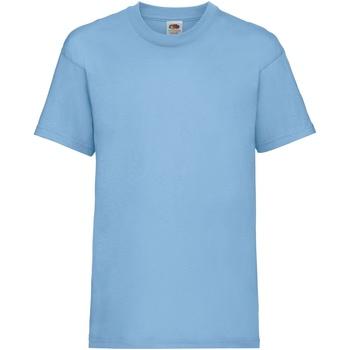 textil Barn T-shirts Fruit Of The Loom 61033 Himmelblått