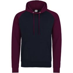 textil Herr Sweatshirts Awdis JH009 Oxford Navy/Burgundy